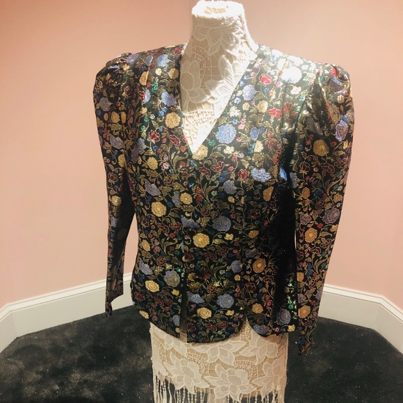 Vintage Jackets & Blazers - AMAZING vintage metallic blazer